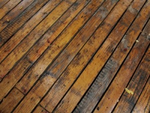 Cleaning Hardwood Floors with Water - Water Damage
